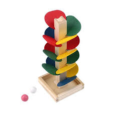 marble track building wooden tree marble ball run track game baby blocks kids children intelligence educational model building