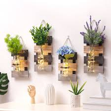 <b>Pastoral Decoration Hydroponic Plant</b> Glass Vase Living Room Wall ...