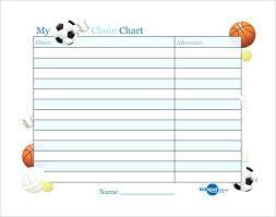 Kids Chore Chart Template Reward Sheet Yakult Co