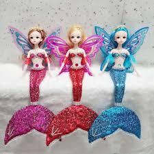Búp Bê Barbie Hình Nàng Tiên Cá Có Cánh Dễ Thương Xinh Xắn chính hãng  228,100đ