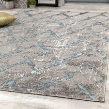 novelle home zara grey blue diamond pattern indoor outdoor area rug lowe s canada
