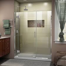 dreamline d12422572 unidoor x 52 1 2 53 w x 72 h frameless hinged