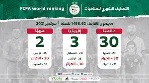 """ترتيب '"""" فيفا / كوكولا """" : الجزائر تحافظ على المرتبة الـ30 عالميا – FAF"""