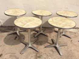 aluminium cafe tables