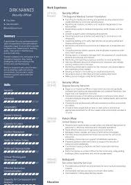 Security Officer Resume Samples And Templates Visualcv