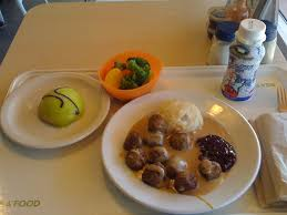 Swedish Meatballs Mashed Potatoes Lingonberry Sauce Veggies And