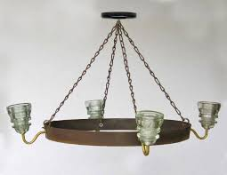 insulator light chandelier wine barrel