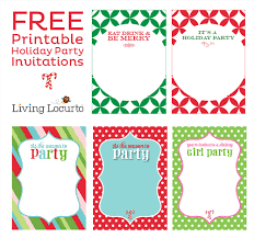 Christmas Party Invitations Free From Ushanationals For A