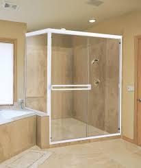mirror wall decor circle panel: bathroom shower tub ideas bright orange vertical tile wall and glass panel dark wall marble top