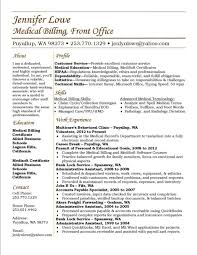 Medical Billing Resume Template Enchanting Medical Billing And Coding Resume Example SampleBusinessResume