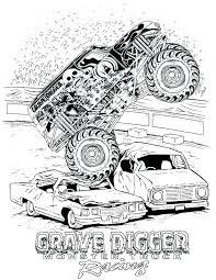 Monster Truck Coloring Pages Free Monster Trucks Coloring Pages
