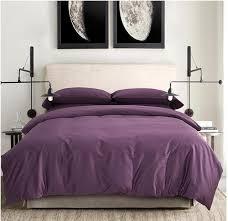 100 egyptian cotton sheets dark deep purple bedding sets king queen size quilt duvet cover