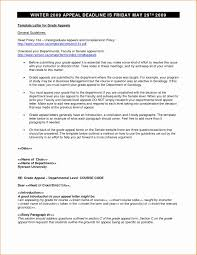 Sample Of Appeal Letter For University Admission Creative 7 Resume
