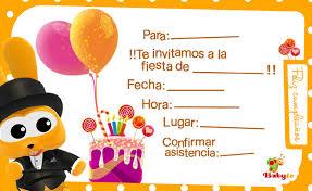 Babytv Invitaciones De Cumpleaños