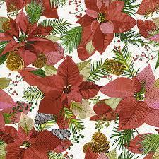 Servietten 25x25 Cm Shiny Poinsettia Bei Servietten Wimmel