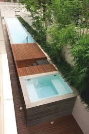 Minimalistisch Modern Badewanne Mini Pool Garten