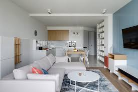 Modern Apartment Design Interior Two Punchy Modern Apartments With Red And Blue Decor