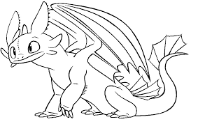 Small Picture Toothless The Dragon Coloring Pages Free Downloads Coloring