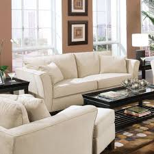 transitional style living room furniture. Coaster Company Park Place Contemporary Cream (Ivory) Sofa With Tapered Arms (Sofa) Transitional Style Living Room Furniture