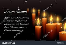 Candle Light Condolence Template Letter Condolence Burning Candle Dark Stock Vector
