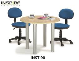 inspire inst 90 round discussion meeting table