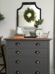 Give Your Gray Bedroom A Rustic Feel By Decorating Your Dresser With  Ceramic Pitchers, Metal Wicker Baskets And Other Vintage Pieces.