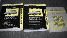 toyota highlander repair manual 2002 toyota highlander service shop repair manual set w wiring diagram book ewd
