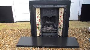 cast iron fireplace grate uk vintage tiled slate hearth 327ml