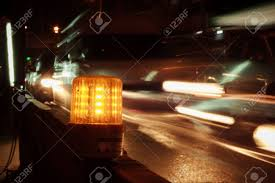 Road Construction Lights Led Warning Light Side Of The Road Is Under Construction And
