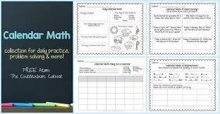 Calendar Math Collection The Curriculum Corner 123