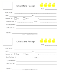 Download Our Sample Of Daycare Invoice Receipt Child Care