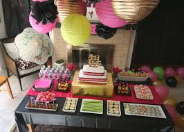 Japanese themed adult birthday party table decor