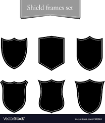 black frame. Shield Logo Backgrounds Set Black Frame Vector Image