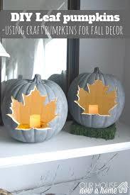 leaf pumpkin craft