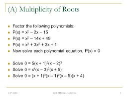 3 a multiplicity