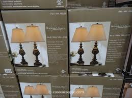 bridgeport designs metal table lamp set costco 3