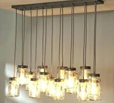 mason jar chandelier light fixture how to make ball lighting wagon wheel rustic with hangi