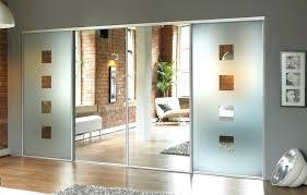 custom sliding mirror closet doors mirror design ideas spectacular brick sliding door mirrored with unusual custom