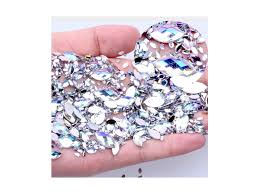 Dekorační Kamínky Diamanty Ve Tvaru Slzy Na Nehty 100ks Flarocz