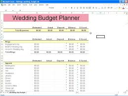 Awesome Wedding Plan Budget Worksheet Template Planning