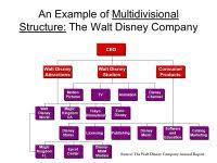 The Walt Disney Company Organizational Structure Chart