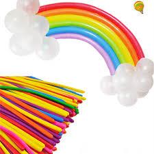 <b>5pcs Black Latex</b> Long Balloons Strip Balloons Magic Air Ballooon ...