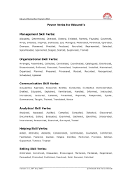 Resume Power Words NEC USA Northeast Colleges And Universities Security Resume 45