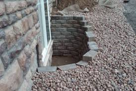 brick basement window wells. Exellent Basement Pavestone Retaining Wall Egress Window Intended Brick Basement Window Wells