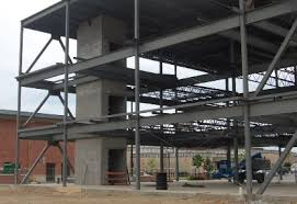 one third two third last these buildings consist of a frame embly of steel beams and steel columns foundations consist of concrete spread footings or