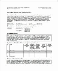 Monthly Report Template Word Beautiful It Monthly Report Template Component Resume Ideas 100