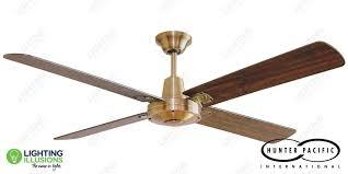 antique brass hunter pacific typhoon timber mach 2 52 ceiling fan