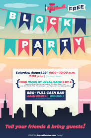 best ideas about block party invites block party flyer poster design template