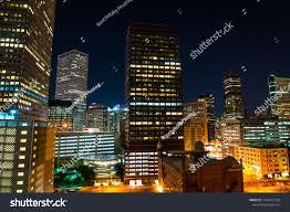 Urban Lights Denver Coupon Illuminated City Lights Denver Colorado Usa Stock Photo