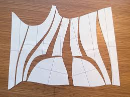 Corset Pattern Awesome Making A Mock Up From The CAD Corset Pattern Corset Training
